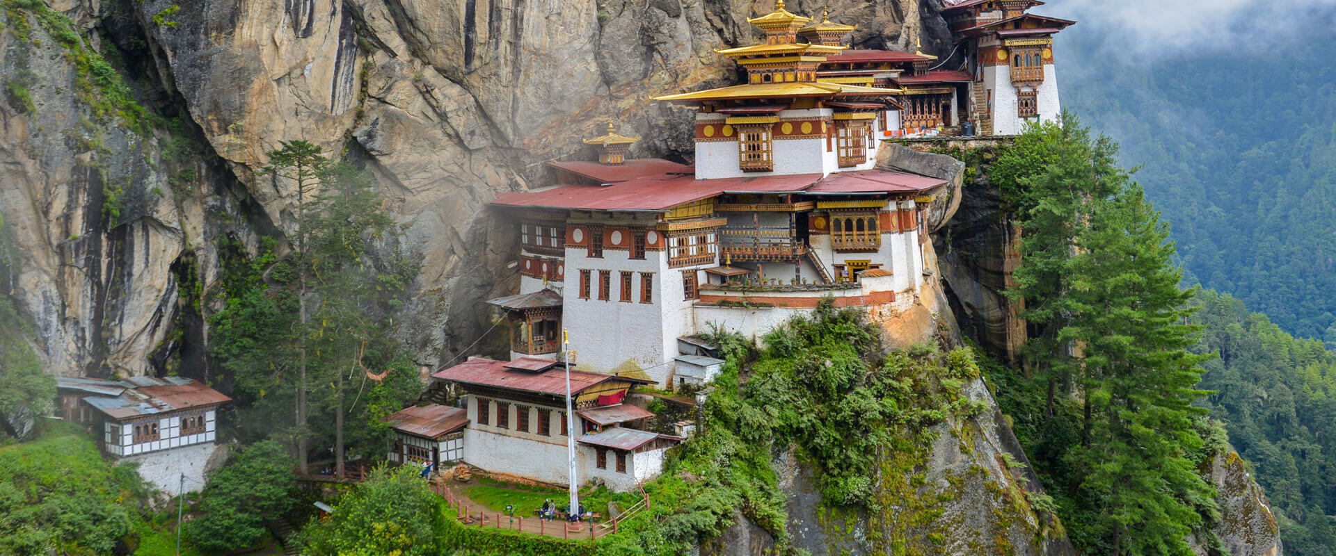 Tiger Nest in Paro, Bhutan. Budhist religious place in Bhutan. Tourist place in Bhutan. Plan Your Bhutan trip with Fortune Connect Holidays
