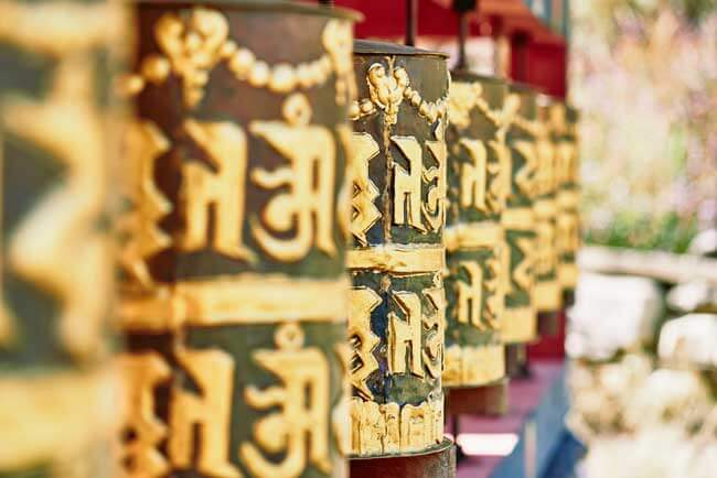 Prayer Wheel in Bhutan