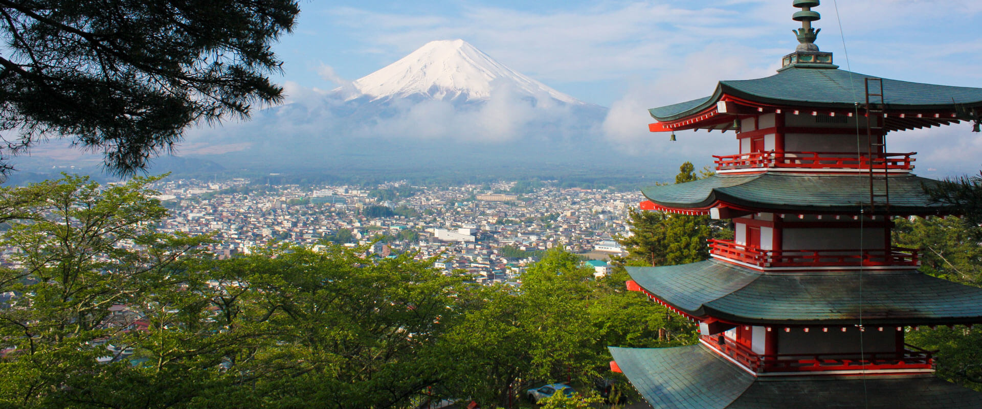 Trip To Japan, View to Mount Fuji . Fixed Departure and Indiviual Tour to Japan with Fortune Connect Holidays