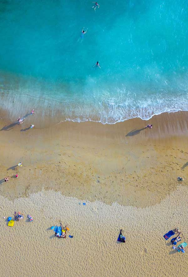 Beach in Sri Lanka, Arial view of Beach. Visit sri Lanka all season with Fortune Connect Holidays